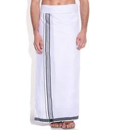 Buy Mens dhoti with Black boarder men-festive-wear online