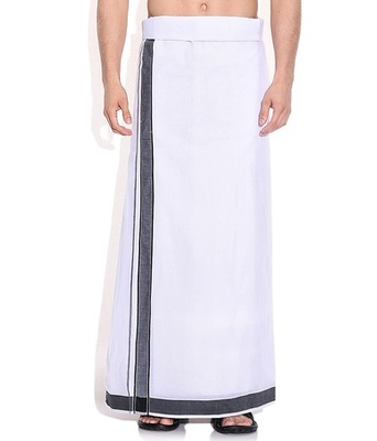 Mens dhoti with Black border