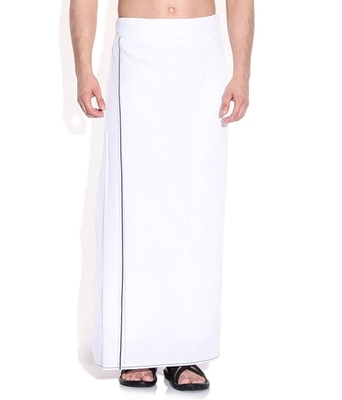 Mens dhoti with Blue border