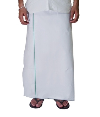 Mens dhoti with Green border