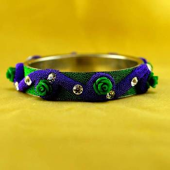 Hand Made Cold Lakh Brass Bangle
