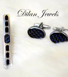 Buy Blue Dazzle Cuff Set gifts-for-him online