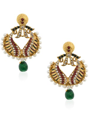Pearling Green Beauteous Earrings -RAE0053