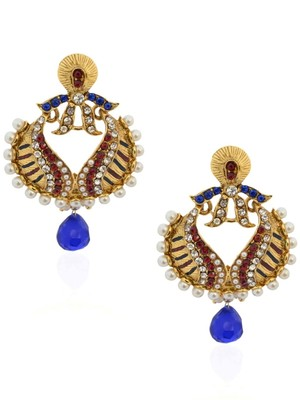 Pearling Royal Blue Beauteous Earrings -RAE0052