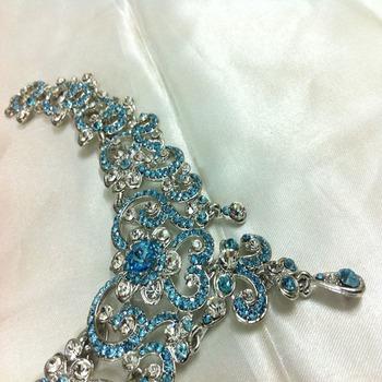 Ferozi Stone Diamond Like Fashion Jewelry Set