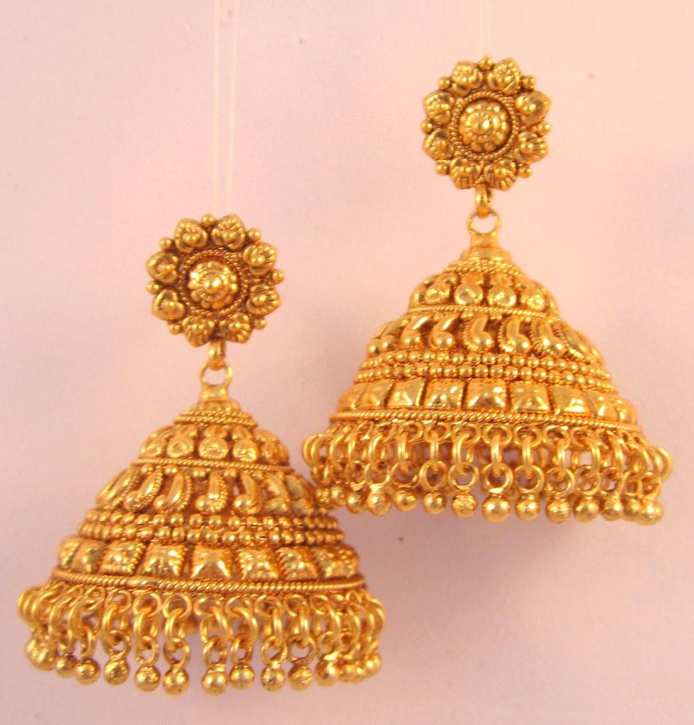 Gold Jewelry Jhumka