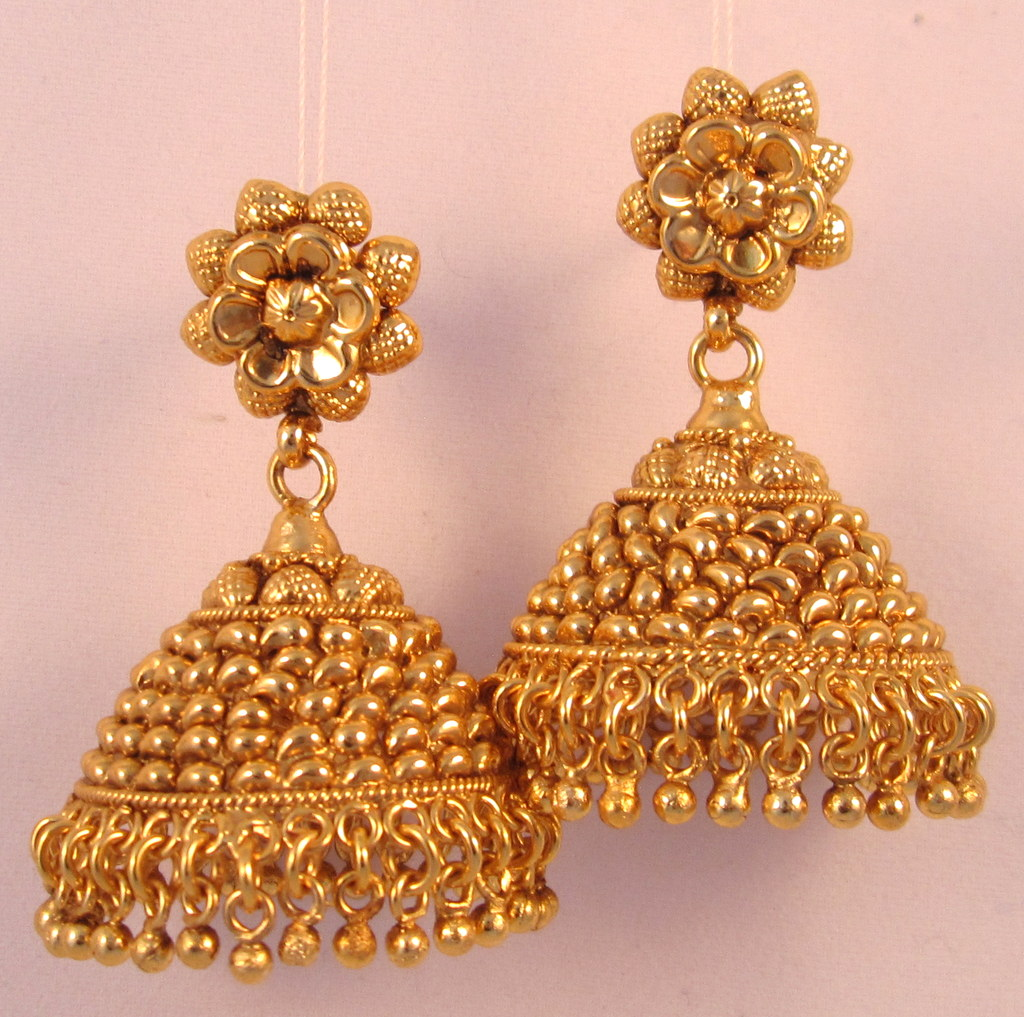 Jhumka Earrings Gold Jewelry