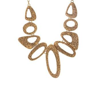 Hollow Bronze Chocker Necklace