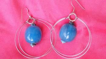 Blue Dangling Earrings-Aliff Lailaa Jewelry-04075
