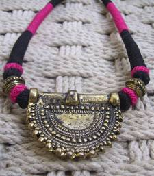 Buy pink black pendant choker Necklace online