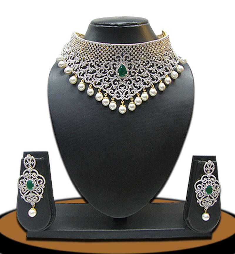 American Diamonds Necklace Sets Chaahat Fashion Jewellery 713777