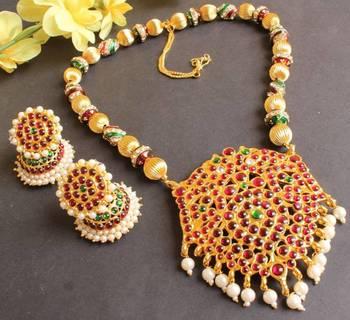 Royal Antique Handmade Kemp Necklace Set