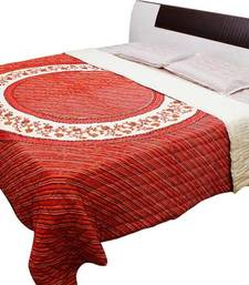 Buy red printed cotton quilts quilt online