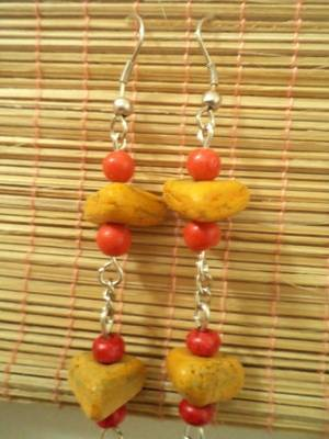 Yellow Red Earrings-Aliff Lailaa-0101