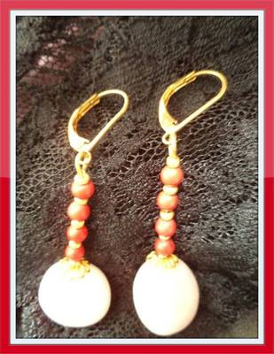 White Agate Earrings - Aliff Lailaa-1010