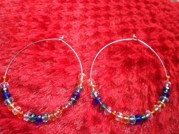 Multicolored Hoop Earrings-Aliff Lailaa-03053