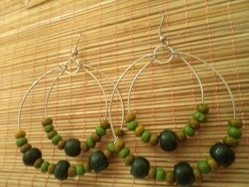 Green Hoop Earrings-Aliff Lailaa-03059