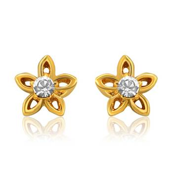 Mahi Bloom Earrings With Gold Plating