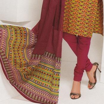 Dress material cotton designer prints unstitched salwar kameez suit d.no 1802