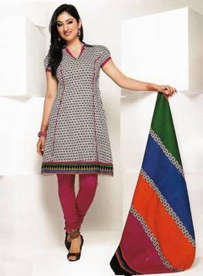 Dress material cotton designer prints unstitched salwar kameez suit d.no 1807