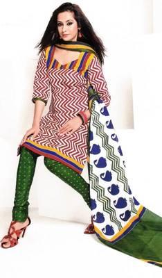 Dress material cotton designer prints unstitched salwar kameez suit d.no 1831