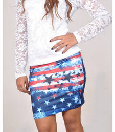 Buy American Flag Print Pencil Skirt - Raha Fashion Hub gifts-for-girlfriend online
