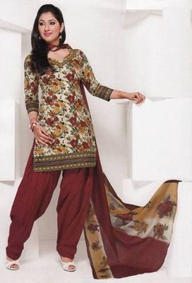 Dress material cotton designer prints unstitched salwar kameez suit d.no 1834