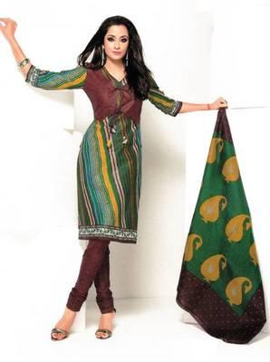 Dress material cotton designer prints unstitched salwar kameez suit d.no 1835
