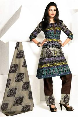 Dress material cotton designer prints unstitched salwar kameez suit d.no 1837
