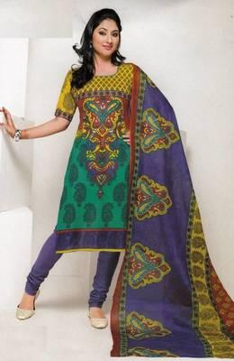 Dress material cotton designer prints unstitched salwar kameez suit d.no 1846