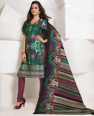 Dress material cotton designer prints unstitched salwar kameez suit d.no 1847