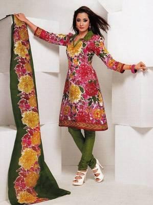 Dress material cotton designer prints unstitched salwar kameez suit d.no 1849