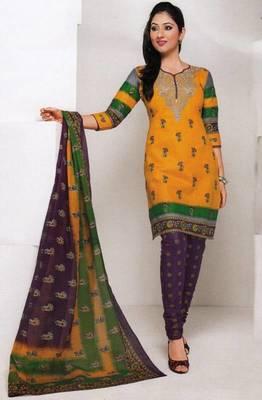 Dress material cotton designer prints unstitched salwar kameez suit d.no 1851