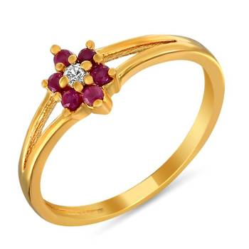 Mahi Dainty Fingerring With Ruby
