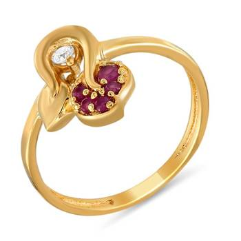Mahi Queenly Fingerring With Ruby
