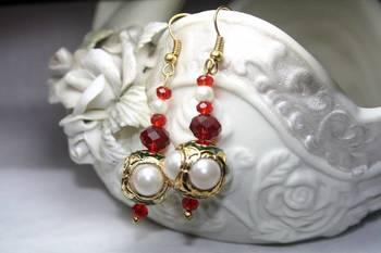 Stunning Earring with Meenakari , Pearl & Stone work