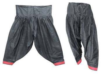 Patiala Salwar Bottom Pants - Loose Pants - Semi Raw Silk Pants - Pleated Pants 902767