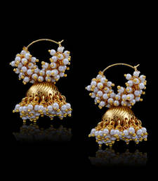 Buy BEAUTIFUL ANTIQUE PEARLS HOOP BALI JHUMKA hoop online
