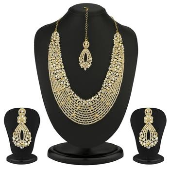 Dazzling Gold Plated Australian Diamond Necklace Set