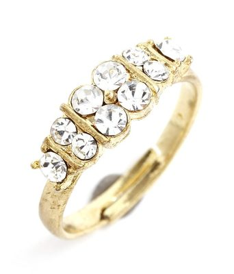 Aradhyaa Gold Finished CZ Ring
