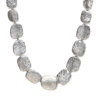 Silver Stones Long Necklace