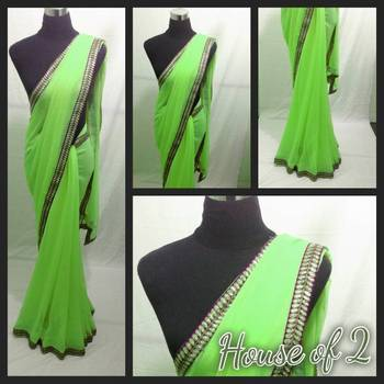 Green and Purple Saree
