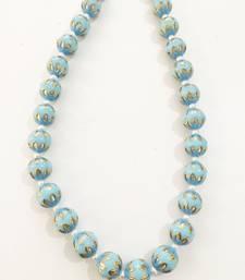 Buy Turquoise Meenakari stones necklace Necklace online