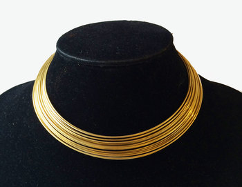 Gold Lines Hasli Necklace