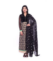 Buy Black embroidered Velvet stitched salwar with dupatta readymade-suit online