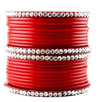 acrylic plastic churi set bangles red colour nihar