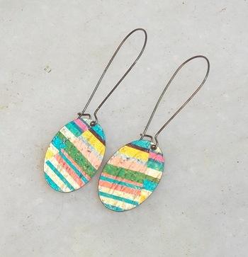 rainbow color earring