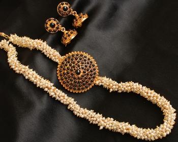 Awesome Black Pearl Cluster Haar Set