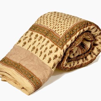 Jaipuri Block Print Cotton Double Bed