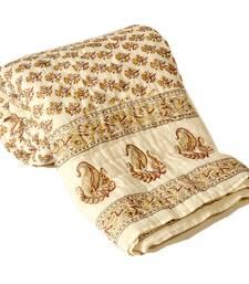 HandBlock FloralPrint Double Bed Jaipuri Razai razais